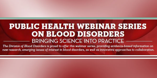 Free Webinar from the CDC
